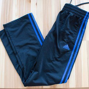 Girl's Black and Blue Adidas Sweatpants Large 14